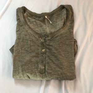 Free people green Henley